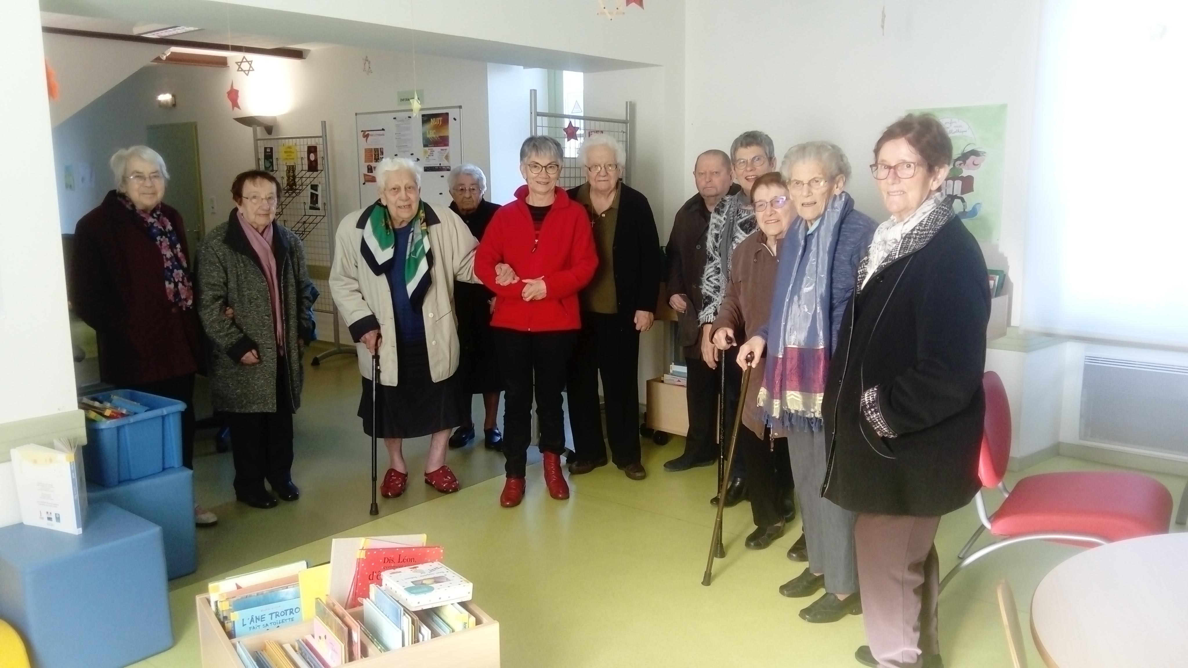 Visite de la bibliothèque (janv. 2020)