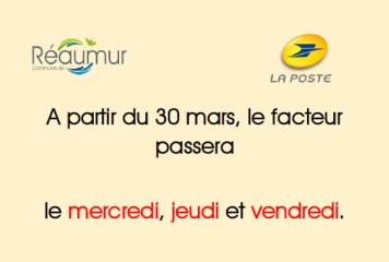 Informations sur la distribution du courrier
