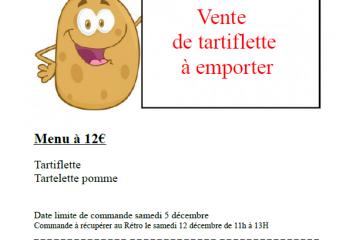 Vente de Tartiflette par l'OGEC